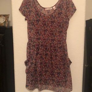 Floral dress with slip